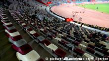 IAAF World Athletics Championships 2019 - Day Four - Khalifa International Stadium. A general view of empty seating in the stadium during the Women's 200 Metres Heats on day four of the IAAF World Championships at The Khalifa International Stadium, Doha, Qatar. Picture date: Monday September 30, 2019. See PA story ATHLETICS World. Photo credit should read: Mike Egerton/PA Wire. RESTRICTIONS: Editorial use only. No transmission of sound or moving images and no video simulation. URN:45714771 |
