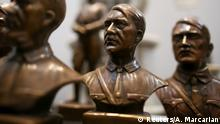 02.10.2019 *** Busts of German Nazi dictator Adolf Hitler are displayed during a news conference at the Holocaust museum in Buenos Aires, Argentina October 2, 2019. REUTERS/Agustin Marcarian