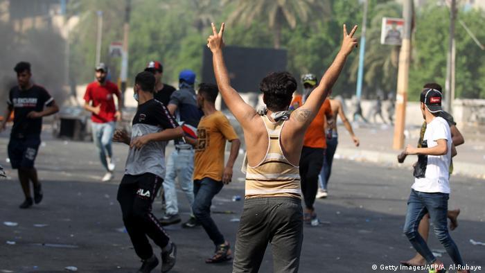 Las protestas continúan en Bagdad. (3.10.2019).