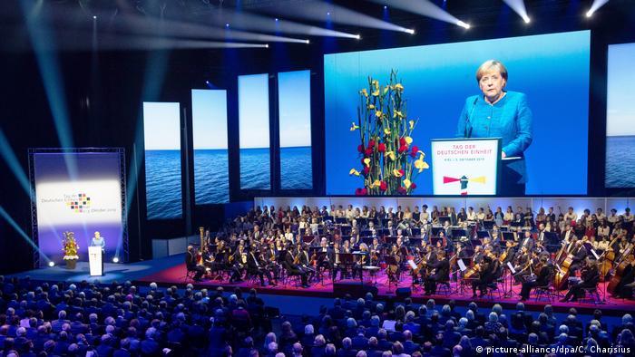 Ангела Меркель выступает в Киле