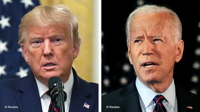 Bildkombo Donald Trump und Joe Biden