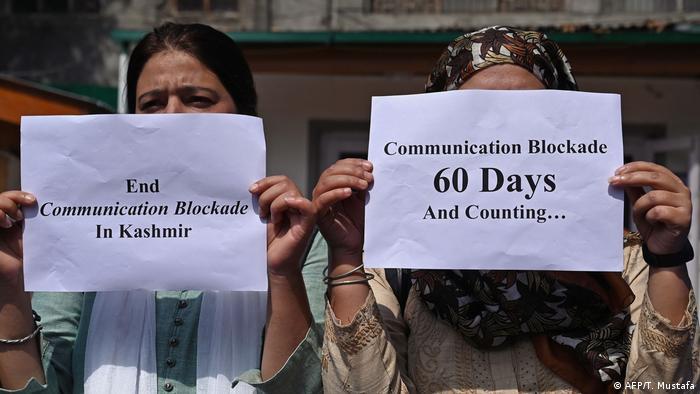 Indien Protest von Journalisten in Kaschmir (AFP/T. Mustafa)