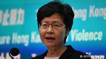 Hongkang PK Regierungschefin Carrie Lam (AFP/M. Rasfan)