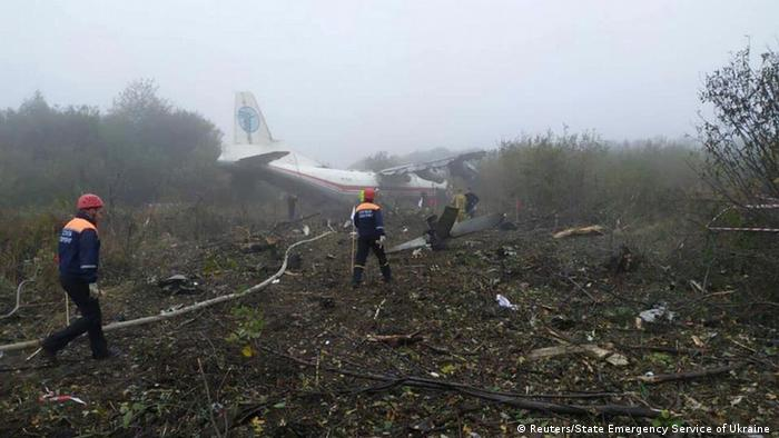Ukraine Flugzeug An-12 in Lwiw notgelandet (Reuters/State Emergency Service of Ukraine )