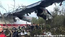 Ukraine Flugzeug An-12 in Lwiw notgelandet