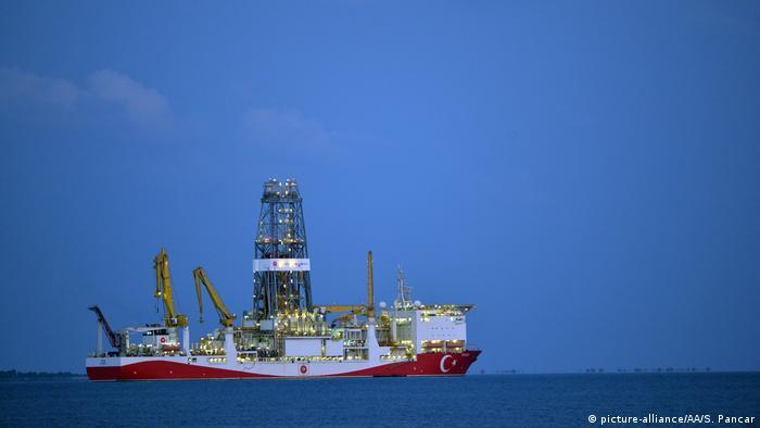 Turkey's ultra-deepwater drillship Yavuz seen off the coast of Turkey in September 2019