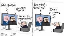 Karikatur russische Propaganda