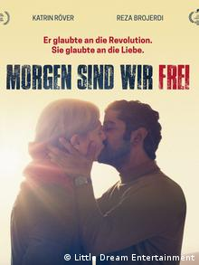 Movie poster for Tomorrow e are free, man and woman kissing (Little Dream Entertainment)