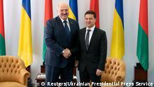 Ukraine Lukaschenko-Selenskyi Treffen in Schitomir