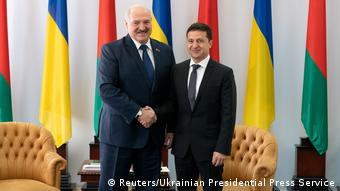 Александр Лукашенко и Владимир Зеленский в Житомире, октябрь 2019 г.