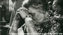 الصورة تعود لعام1981 من محكمة في دوسيلدورف خلال محاكمة حارسات معسكر اعتقال رافينسبروك خلال الحقبة النازية