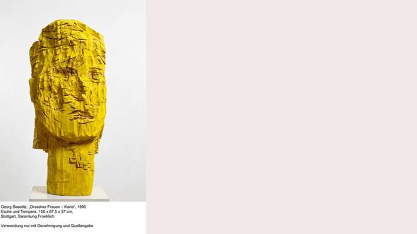 Деревянная голова из серии Женщины Дрездена