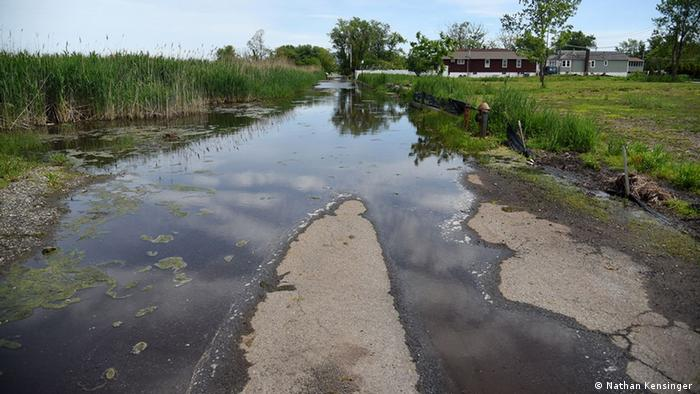 A road that now floods