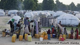 Nigeria Boko Haram Flüchtlingscamp in Maiduguri (picture-alliance/AP Photo/S. Alamba)