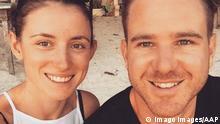 AUSTRALIAN COUPLE DETAINED IN IRAN, A supplied undated image obtained Thursday, September 12, 2019 shows Perth residents Jolie King (left) and Mark Firkin. The Perth residents have been named as the Australian couple detained in Iran. ( !ACHTUNG: NUR REDAKTIONELLE NUTZUNG, KEINE ARCHIVIERUNG UND KEINE BUCHNUTZUNG! AUSTRALIA PUBLICATIONxINxGERxSUIxAUTxONLY Copyright: xSUPPLIED,xSOCIALxMEDIAx 20190912001418974484