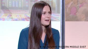 Dr Kylie Moore-Gilbert bei der TV-Sendung Modern Middle East in Melbourne