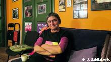 Staša Zajović ist die Gründerin der serbischen Organisation Frauen in Schwarz, die sich mit Feminismus, Krieg, Kriegsverbrechen und Vergangenheitsbewältigung in der Region beschäftigt. (c) U. Sabljaković