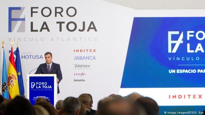 Spanien Minsterpräsident Pedro Sanchez in O Grove