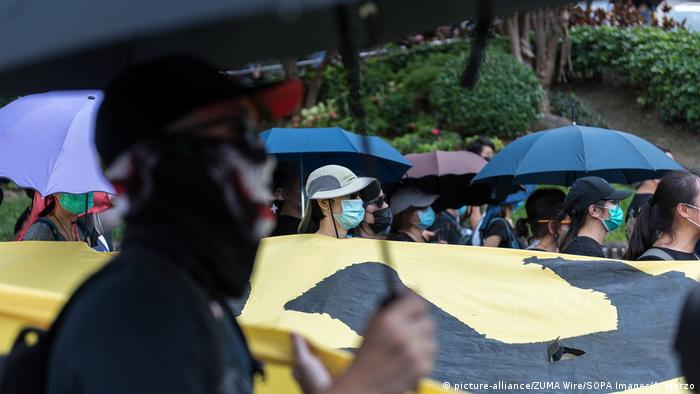 China Proteste in Hongkong (picture-alliance/ZUMA Wire/SOPA Images/A. Marzo)