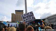 Ukraine Kiew   Proteste gegen Steinmeier-Formel für Donbas