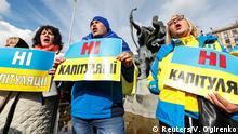 Ukraine Kiew | Proteste gegen Steinmeier-Formel für Donbas