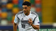 UDINE, ITALY - JUNE 17: Nadiem Amiri of Germany in action during the 2019 UEFA U-21 Group B match between Germany and Denmark at Stadio Friuli on June 17, 2019 in Udine, Italy. (Photo by Alessandro Sabattini/Getty Images)