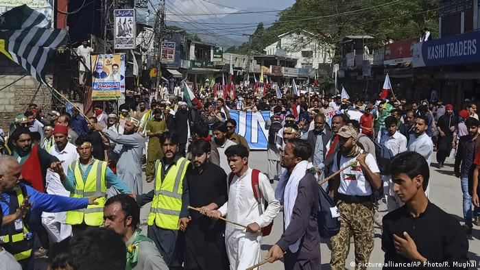 Protests in Pakistan-administered Kashmir