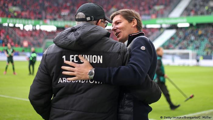 Fußball Bundesliga VfL Wolfsburg - 1. FC Union Berlin Urs Fischer und Oliver Glasner
