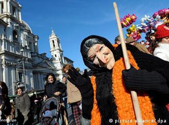 Ведьма Бефана на римской улице
