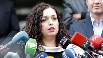 Kosovo Parlamentswahl 2019 Vjosa Osmani (Reuters/F. Goga)