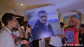 Partidarios de Nabil Karoui.