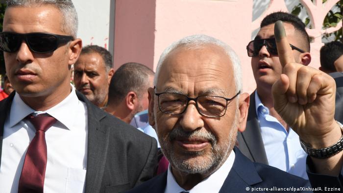 El Nahda Partisi'nin lideri Raşid el Gannuşi