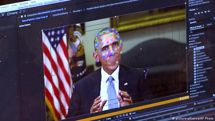 A video of US President Barack Obama being manipulated