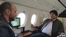 Titel;Interview Evo Morales - DW,Bolivia, Carlos Mesa, Evo Morales, La Paz, Bolivien, Diego Gonzalez Autor: Diego González -Rechte hat die DW