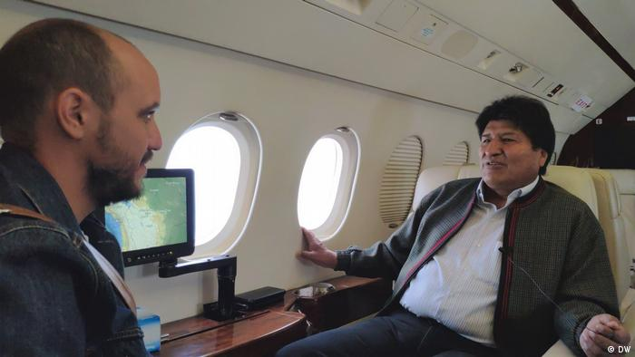 Bolivien Präsident Evo Morales im DW Interview mit Diego Gonzalez (DW)