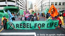Neuseeland Extinction Rebellion Aktivisten in Wellington