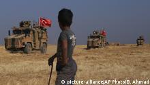 Syrien Türkische Militärfahrzeuge