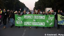 Deutschland Extinction Rebellion Aktivisten in Berlin
