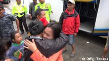 Indonesien Ankunft von Flüchtlingen in Nordtoraja