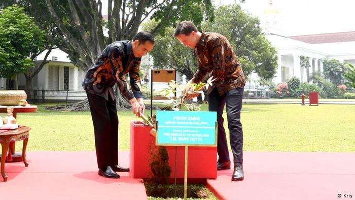 Pertemuan bilateral Presiden Jokowi dengan PM Belanda Mark Rutte