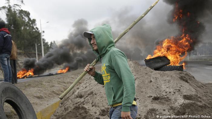 Ecuador Protest gegen die Regierung