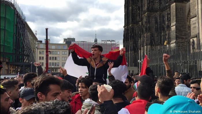 Köln Demonstration von Irakern (DW/Maram Shahatit)