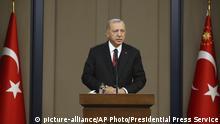 Türkei Ankara | Recep Tayyip Erdogan bei Pressekonferenz