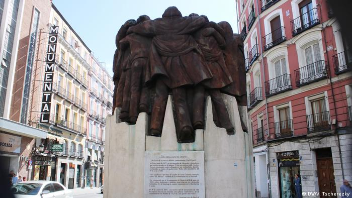 Monument in Madrid to leftist activists killed by Franco's supporters