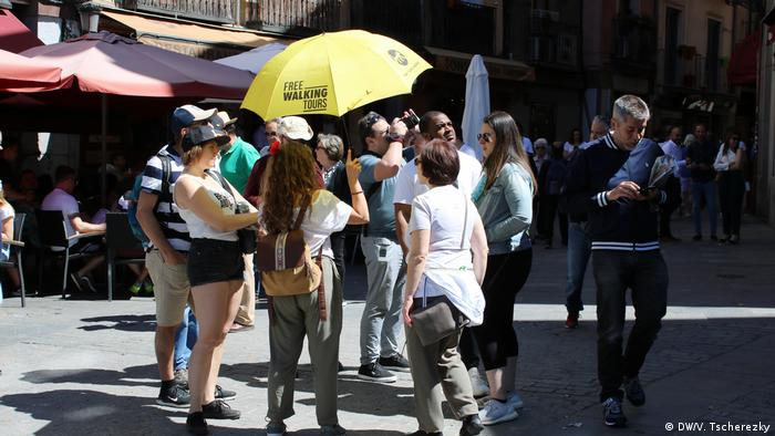 Tourists in the center of Madrid