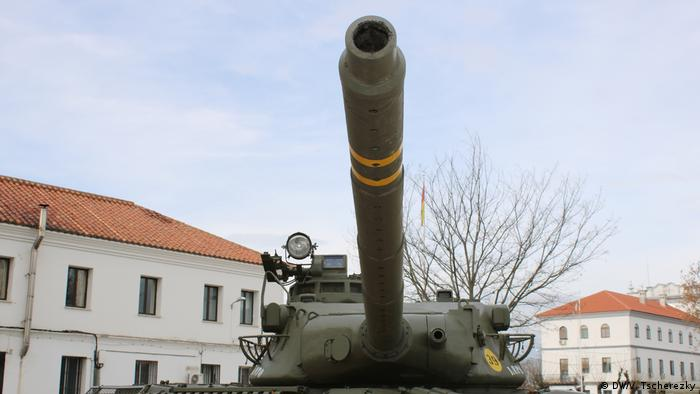 Tank - monument in Madrid