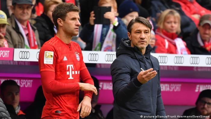 Niko KOVAC (Trainer Bayern Muenchen) and Thomas MUELLER