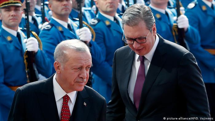 Serbien Belgrad Erdogan und Aleksandar Vucic