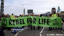 London Klimaproteste Extinction Rebellion
