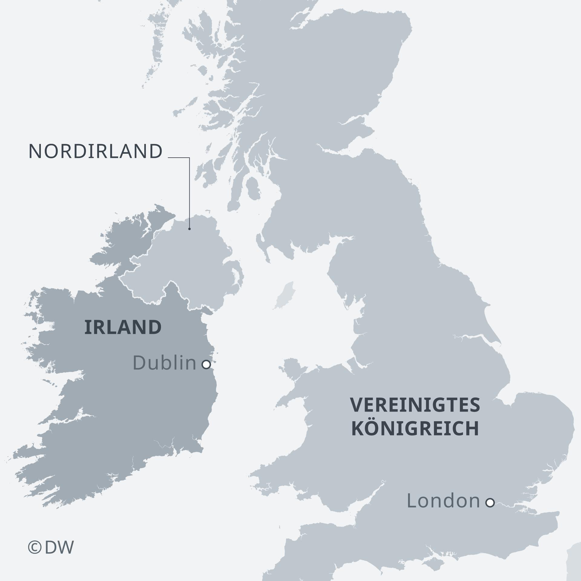 Karte Vereinigtes Königreich Nordirland Irland DE
